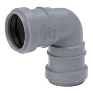 Отвод 2-х раструбный ПП канализация серый, 87-90° цена