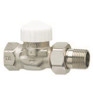 Клапан термостатический 2-х тр. система с пред. настройкой, TRV-1, бронза цена