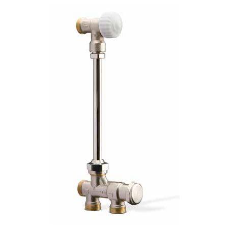 Гарнитура радиатора с нижней разводкой труб для 1тр. системы, Flowrett цена