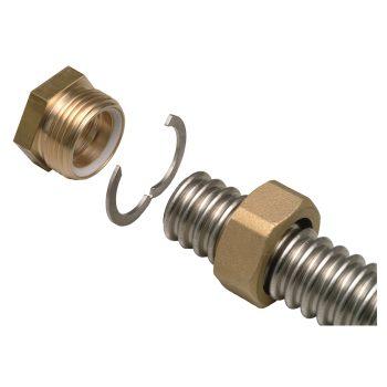 Концевой фитинг из латуни для подключения трубы Inoflex, ВР цена