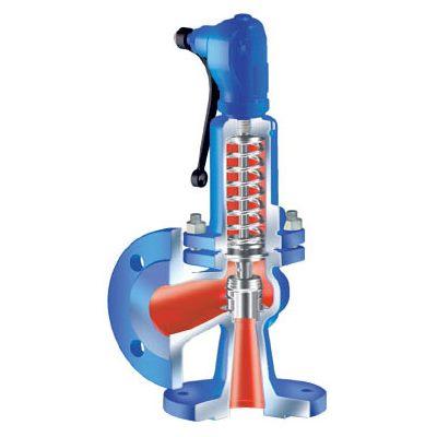 Предохранительные чугунные клапаны Ari-Safe, фланцевые, PN16, типы 12.901-12.921 цена