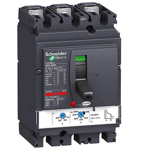 Автоматические выключатели в литом корпусе Schneider Electric Compact NS 100-250 цена