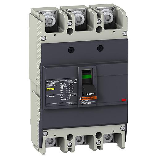 Автоматические выключатели в литом корпусе на токи от 15 до 400A Schneider Electric EasyPact цена