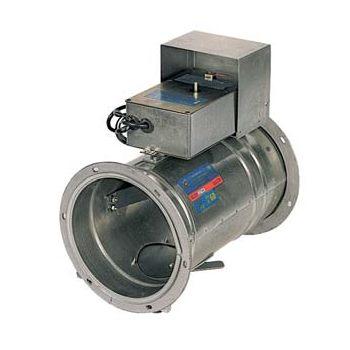 Клапаны противопожарные для круглых воздуховодов с электроприводом КЛОП-1 цена