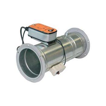 Клапаны противопожарные для круглых воздуховодов с электроприводом КЛОП-2 цена