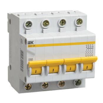 Автоматические 4-х полюсные выключатели серии ВА47-29 цена