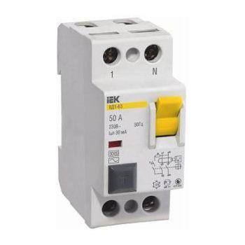 Выключатели дифференциальные (УЗО) 2-х полюсные ВД1-63 цена