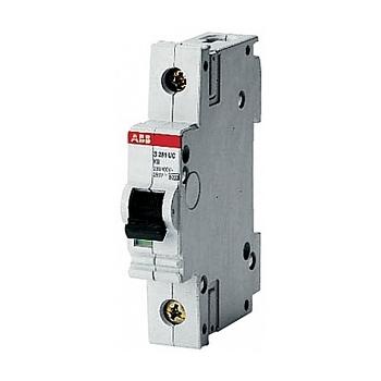 Автоматический однополюсный модульный выключатель 6кА ABB S281 цена