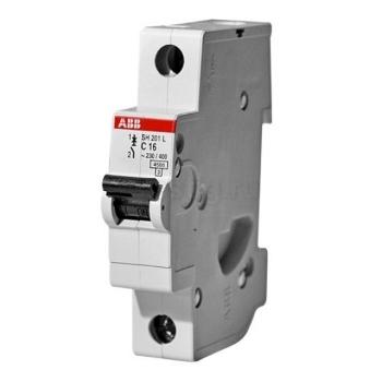 Автоматический однополюсный модульный выключатель 4.5кА ABB SH201L цена