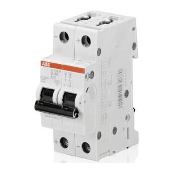 Автоматический двухполюсный модульный выключатель 10кА ABB S202 M цена