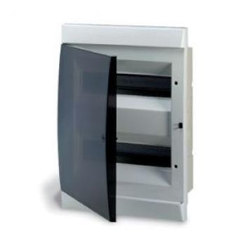 Боксы электротехнические встраиваемые ABB UNIBOX с дымчатой дверью с клеммником цена