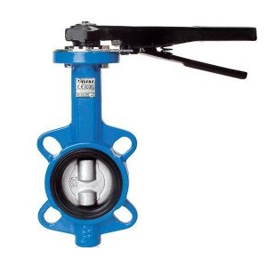 Затвор дисковый поворотный межфланцевый, чугун/никелир. чугун, EPDM, FAF 3550, PN16 цена