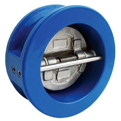 Обратный клапан межфланцевый двухстворчатый, чугун/нерж.сталь, EPDM FAF 2350, PN16 цена