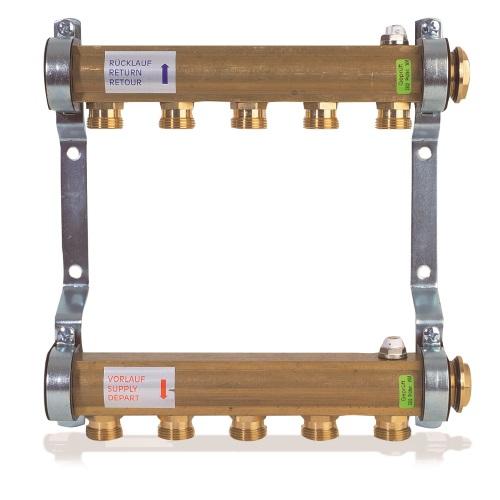 """Коллекторная группа 1""""ВР латунь, без клапанов для радиаторной системы, Watts HKV / A цена"""