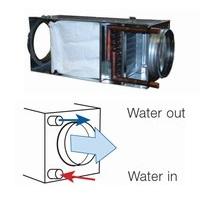Водяные воздухонагреватели для круглых воздуховодов с карманным фильтром EU5 Systemair VBF цена