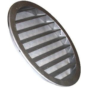 Круглая воздухозаборная решетка из алюминия с антимоскитной сеткой Systemair IGC цена