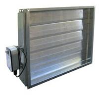 Отсечной воздушный клапан для прямоугольных воздуховодов с электроприводом Systemair EFD цена