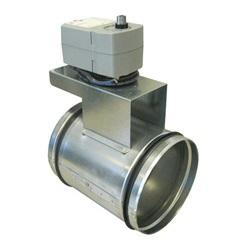 Отсечной воздушный клапан для круглых воздуховодов с электроприводом Systemair EFD цена