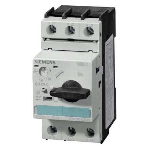 Автоматические выключатели для защиты э/д Siemens 3RV1021 размер S0 цена