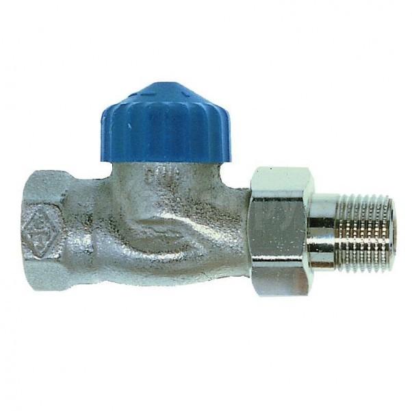 Клапан термостат., 1 тр. система без настройки, никел. бронза, прямой, Heimeier цена