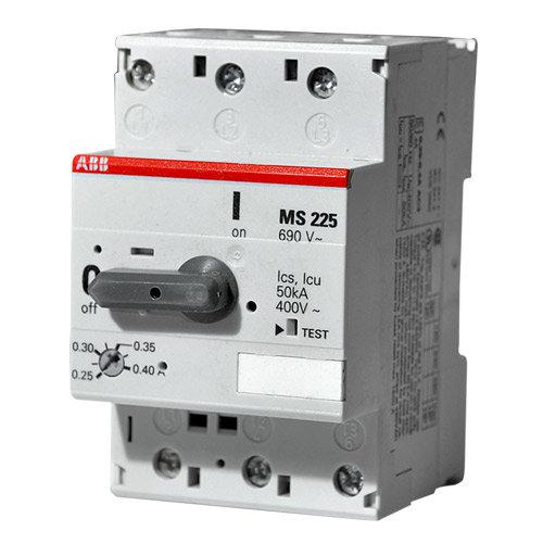 Автоматические выключатели для защиты э/д ABB MS225 c тепловой и электромагнитной защитой цена
