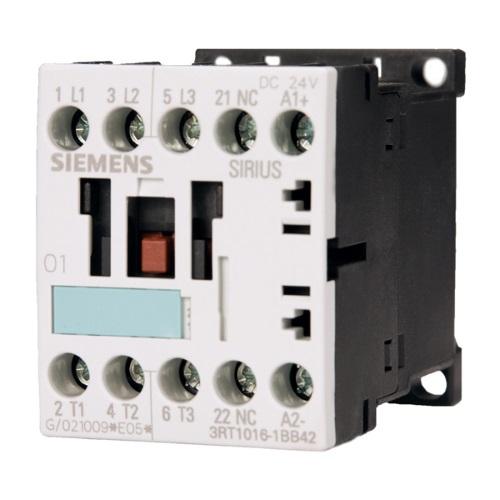 Контакторы AC-3 Siemens 3RT1016, 4кВт/400В, 3П, типоразмер S00, винтовые клеммы цена