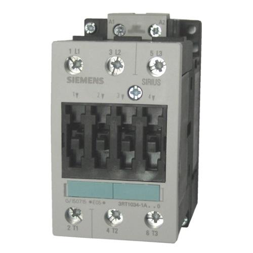 Контакторы AC-3 Siemens 3RT1034, 15кВт/400В, 3П, типоразмер S2, винтовые клеммы цена