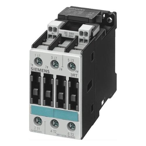 Контакторы AC-3 Siemens 3RT1026, 11кВт/400В, 3П, типоразмер S0, винтовые клеммы цена