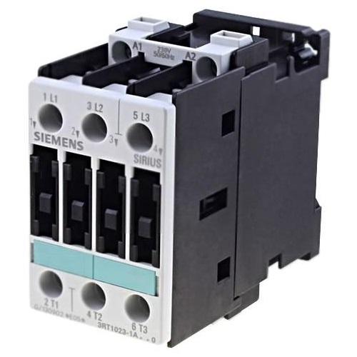 Контакторы AC-3 Siemens 3RT1023, 4кВт/400В, 3П, типоразмер S0, винтовые клеммы цена