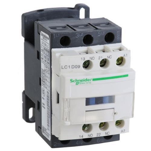 Контакторы AC-3 Schneider Electric TeSys D, LC1D09, 4кВт/690В, 9А, 3П,  1НО+1НЗ цена