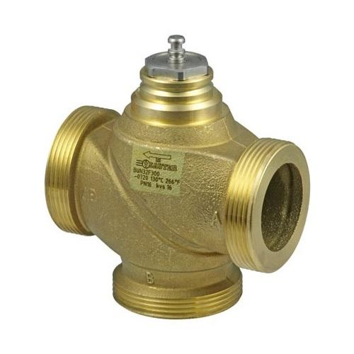 Клапаны регулирующие 3-х ходовые из DZR латуни Sauter BUN цена