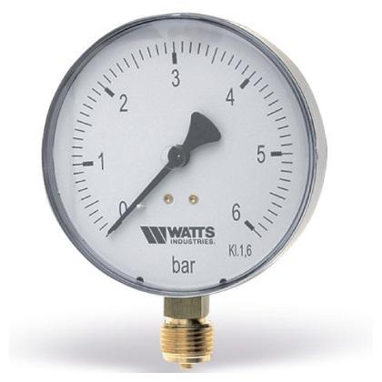 """Манометры радиальные (подключение снизу) Watts F+R250 (MRP), металл, 1/4""""НР, класс точности 2,5 цена"""