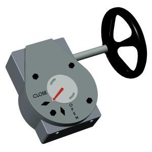 Редукторы ручные для дисковых поворотных затворов Tecofi VPREDUCT цена