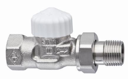 Клапан термостат., 2-х тр. система, с предв. настройкой, никел. бронза, прямой, Heimeier цена