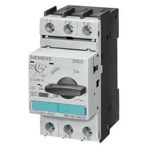 Автоматические выключатели - расцепители защиты трансформатора Siemens 3RV-1421 размер S0 цена