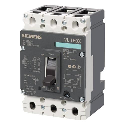 Автоматические выключатели в литом корпусе Siemens Sentron VL160XN цена