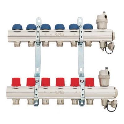"""Коллекторные группы 1""""ВР никелир. латунь, c балансировочными клапанами, F.I.V. 9877R5.., выходы M24x19 цена"""