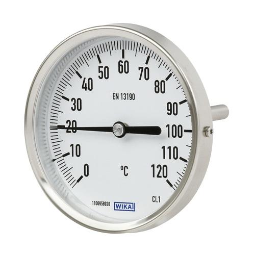 Термометры биметаллические осевые корпус и шток из нержавеющей сталь,Wika тип А52 цена
