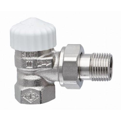 Клапаны радиаторные термостатические угловые для 2-х трубной системы  с предварительной настройкой Ду15, М30х1.5 цена