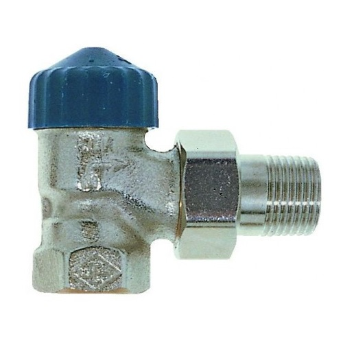 Клапаны радиаторные термостатические угловые для 1 трубной системы Ду15, М30х1.5 цена