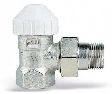 Клапаны радиаторные термостатические 2-х тр. система, с предв. настройкой, никел. латунь, Watts TVE/TVD цена