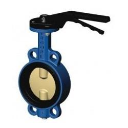 Затворы дисковые поворотные межфланцевые чугунные с диском из нержавеющей стали Ду 125 цена