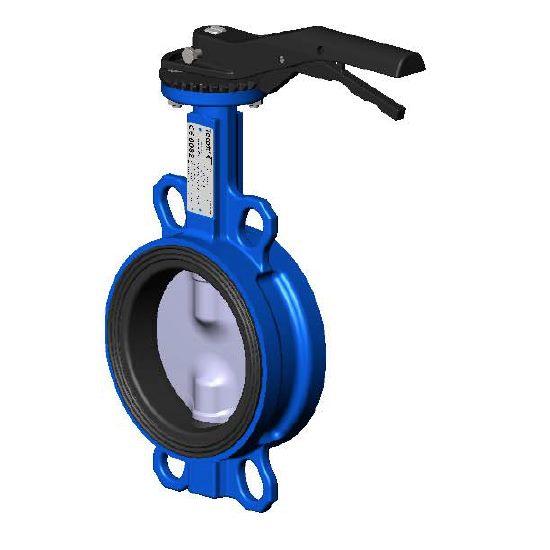 Затворы дисковые поворотные межфланцевые чугунные с диском из чугуна Ду 150 цена