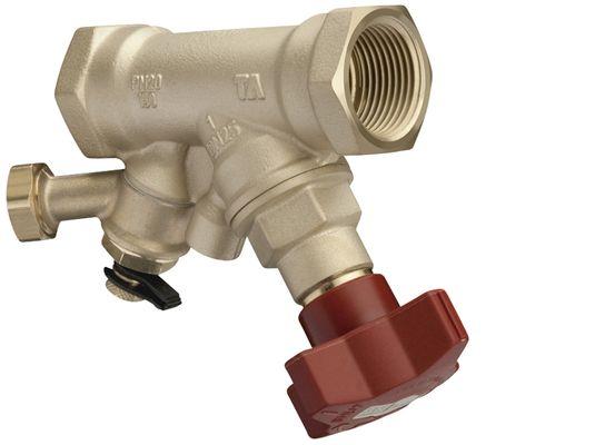Клапан запорный с измерительным ниппелем STS, AMETAL (DZR латунь) цена