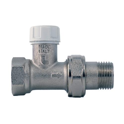 Клапан радиаторный запорно-регулирующий, прямой, никел. латунь, Itap 296 цена