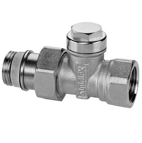 Клапан радиаторный запорно-регулирующий, прямой никел. латунь, Meibes IG/N цена