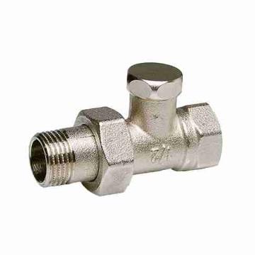 Клапан радиаторный запорно-регулирующий, прямой, никел. латунь, Watts RLD цена