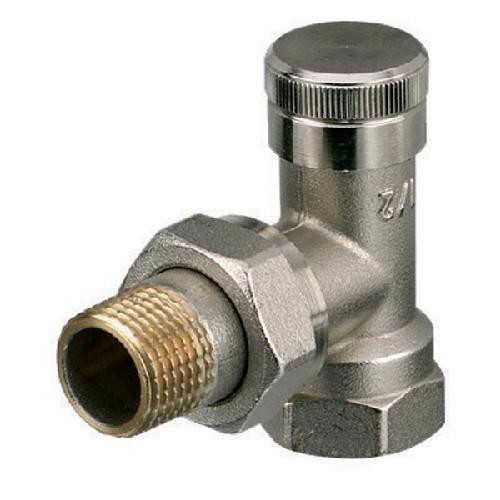 Клапан радиаторный запорно-регулирующий, угловой, никел. латунь, RLV цена