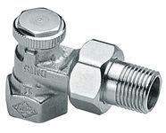 Клапан радиаторный запорно-регулирующий, угловой, никел. бронза, Regutec цена