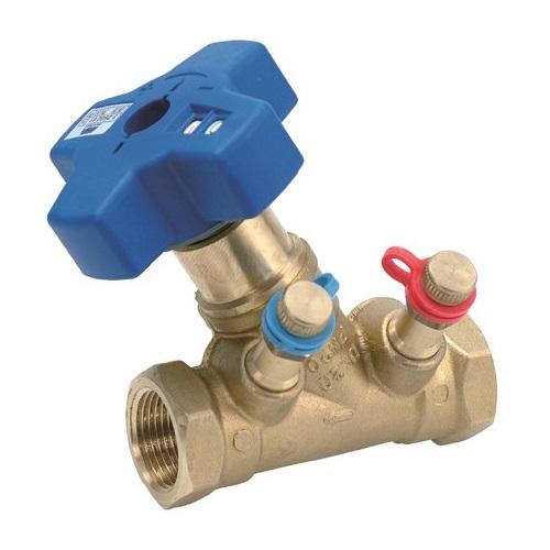 Клапаны балансировочные ручные с измерительными ниппелями MMA STV Ду 10-50 из DZR латуни цена
